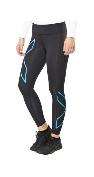 2XU Mid-Rise Compression Tights Women black/capri blue